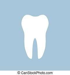 dent blanche, dentaire, icône