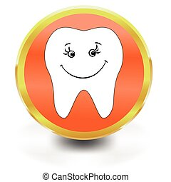 dent blanche, icône