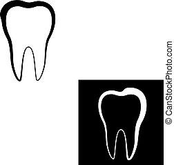 dent, conception, icône