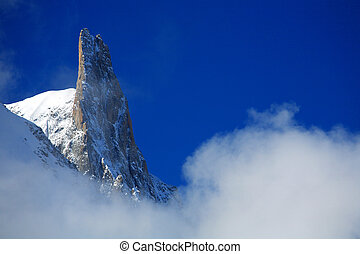 Dent du Geant seen from Covercle refuge, Haute Savoie,...