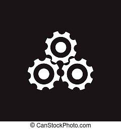 dent, logo, vecteur, symbole, trois, machine