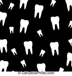 dent, papier peint, dentiste