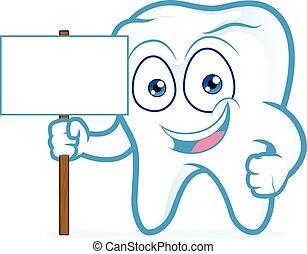 dent, signe bois, tenue, vide