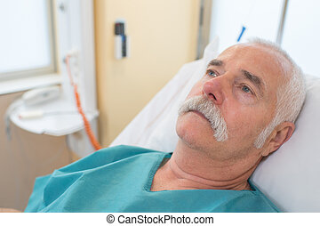 dentaal, mannelijke , patiënt, kliniek, bang