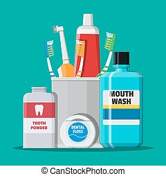 dentaal, poetsen, tools., mondelinge zorg, hygiëne, producten