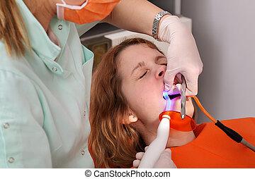 dentaal, procedure, geleide, laser