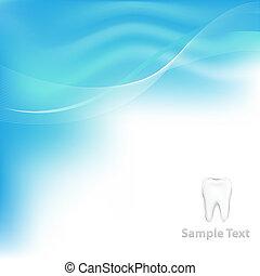dentaal, vector, achtergrond, met, tand