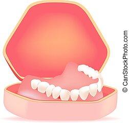 dentadura, caja