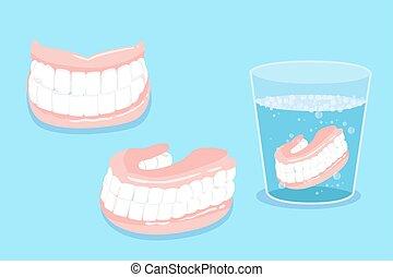 dentadura, cartoo