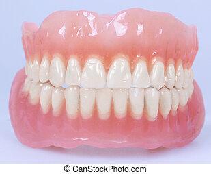 dentadura, mandíbulas, médico