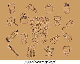 dentaire, coloré