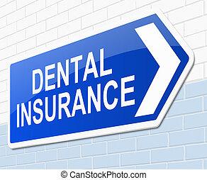dentaire, concept., assurance