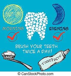 dentaire, concept, soin