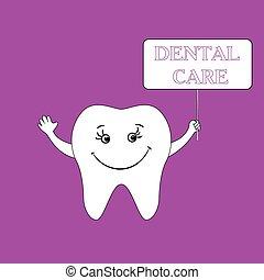 dentaire, conception, humain, dent, smile., concept., soin