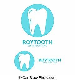 dentaire, dent, clinique, vecteur, logo., icône