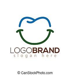 dentaire, dent, vecteur, gabarit, sourire, logo, icône