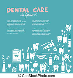 dentaire, fond, soin