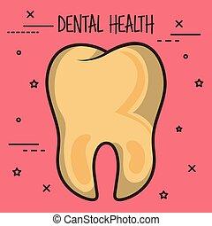 dentaire, icône, sale, soin dent