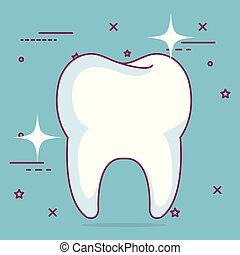 dentaire, icône, soin dent