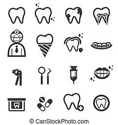 dentaire, icônes