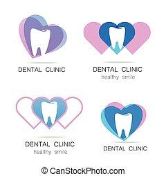 dentaire, logo, clinique