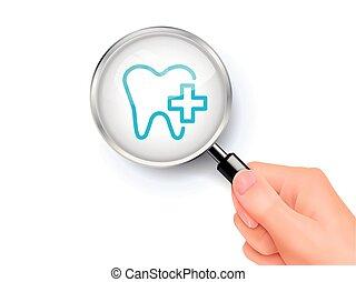 dentaire, signe, soin, icône