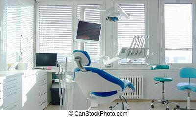 dentaire, surgery., moderne, intérieur