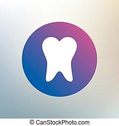 dentaire, symbole., dent, icon., signe, soin