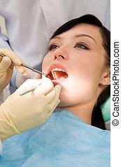dental, überprüfung