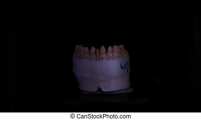Dental 3D scanner - Dental Reconstruction of Lower Jaw with...