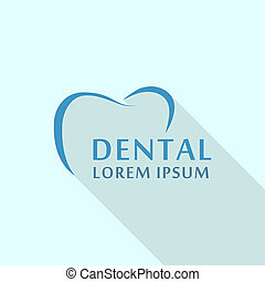 Dental abstract logo icon, flat style
