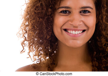 Dental african woman - Happy african girl in a natural...