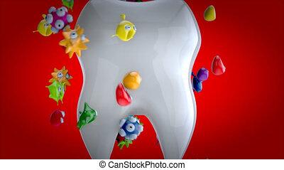 dental, animation, -, sorgfalt, 3d