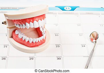 Dental appointment concept.