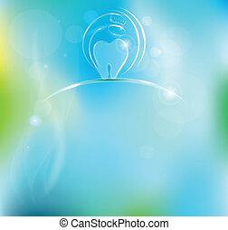 Dental background - Dental symbol. Dental visits and...