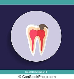 Dental Background design. Vector illustration