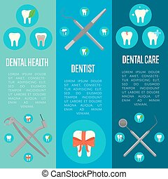 Dental banners set with crosswise instruments