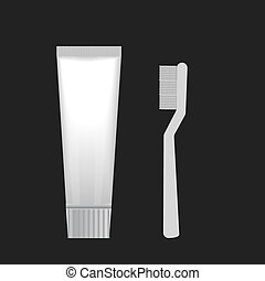 brush with tooth paste