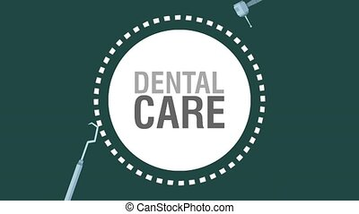 Dental care and hygiene HD animation - Dental care and...