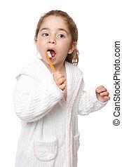 Dental care - child brushing teeth