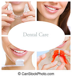 dental care collage (dental services) - collage of...