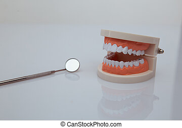 Dental care concept. Healthy equipment tools