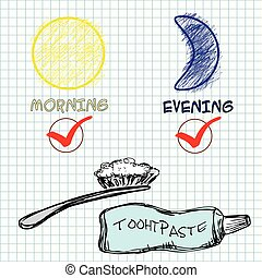 Dental care concept. Vector illustration.