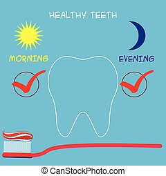 Dental care concept. Vector illustration