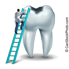 Dental Care - Dental care health and medical symbol with a...