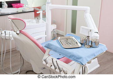 Dental care equipment in clinic