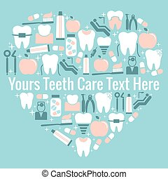 Dental care heart symbol - Heart symbol of dental facilities...