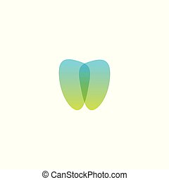 Dental care icon. Dentist clinic vector logo template. Abstract stylized tooth, modern logotype for stomatology. Linear knot stylized.