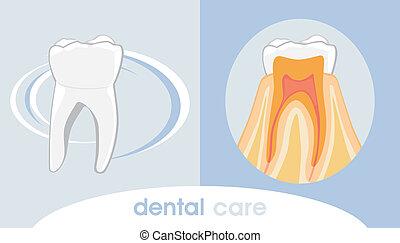 Dental care. Icon for design