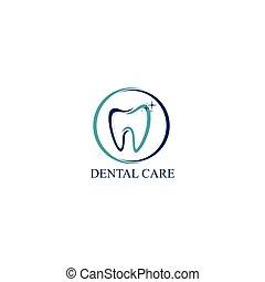 Dental Care Icon Logo Vector Design Template